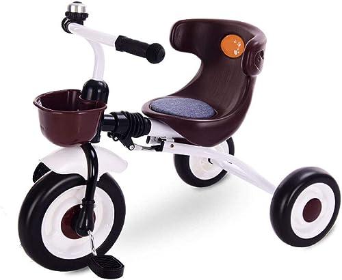 LHY RIDING mädchenfürrad Kinder Dreirad Kinderwagen klapp Auto licht Kinder fürrad 2-5 Jahre alt Baby Dreirad fürrad Schwarz