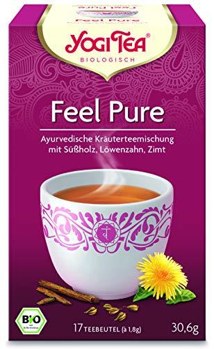 Yogi Tea® 10x Feel Pure Bio Yogi Tee I leckere ayurvedische Gewürz-Kräuter-Tee-Mischung I 170 Tee-Beutel - Bio-Qualität I 10 Päckchen