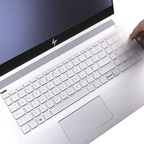 """Keyboard Cover for HP Laptop 15-db 15-dw 15-dy 15-da 15-bs/bw 15-ef 15t 15z 15.6"""" 15-db0011dx 15-dy1043dx dy2051wm dy1085nr dy2037nr 15-dy1078nr 15-dw3015cl dw1083wm 15t-dy200 Keyboard Cover-Clear"""