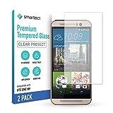 smartect Panzerglas kompatibel mit HTC One M9 [2 Stück] - Tempered Glass mit 9H Festigkeit - Blasenfreie Schutzfolie - Anti Fingerprint Panzerglasfolie