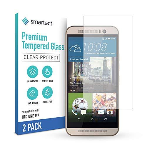 smartect Schutzglas kompatibel mit HTC One M9 [2 Stück] - Tempered Glass mit 9H Festigkeit - Blasenfreie Schutzfolie - Anti-Kratzer Bildschirmschutzfolie