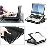 Urben Life Penta Lapdesks Scrivania Portatile Lapdesks Regolabile con Doppio Supporto Il Supporto per Laptop può Essere Utilizzato Come Laptop, Libreria, Supporto per Tablet, Supporto per Functional
