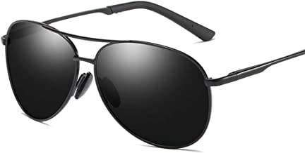 LUKEEXIN Vintage Trend Pilot Sunglasses, Polarized Lens with Case, 100% UV Protection