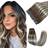 Creamily Halo Human Hair Extensions 20Inch...