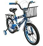 Airel Bicicletas Infantiles para Niños y Niñas | Bici con Ruedines y Cesta | Bicicletas 16 y 18 Pulgadas | Bicicletas niños 4-7 años | Color: Azul Pulgadas: 18