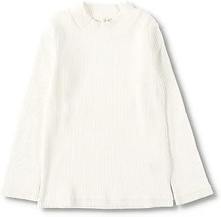[ブランシェス] ハイネック 長袖 Tシャツ 女の子 キッズ ガールズ シンプル 無地 ボーダー