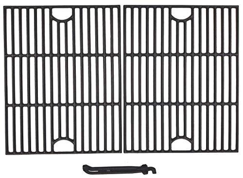 BBQSTAR BBQ Grill Grate 17-inch Matte Cast-Iron Cooking Grate Replacement with Grill Grate Lifter for Kenmore Kmart Member's Mark Nexgrill 2-Pack
