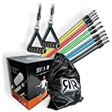 R&RGbR Resistance Bands Widerstandsband Set- Krafttraining - Fitnessbänder - Set : 5...