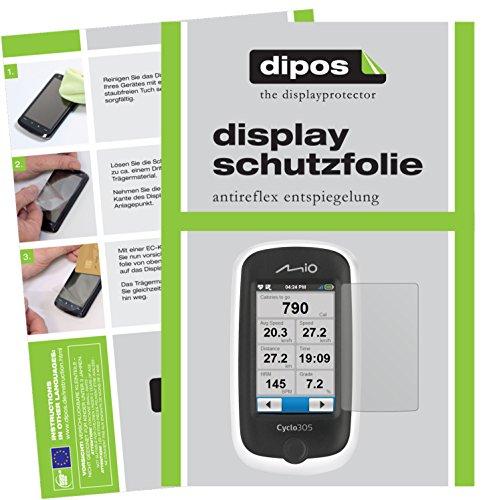 dipos I 3X Schutzfolie matt kompatibel mit Mitac Mio Cyclo 305 HC Folie Displayschutzfolie