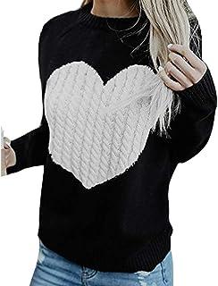 pingrog Mujeres Casual Sólido Manga Larga Suéter con Flojos Cárdigans Flojo Estilo único Jerseys Tops Prendas De Punto Mod...