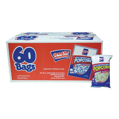Amazing Deal Lance White Cheddar Cheese Popcorn, 60 bags of.75oz.