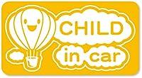 imoninn CHILD in car ステッカー 【マグネットタイプ】 No.32 気球 (黄色)