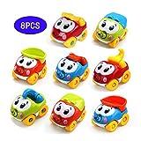 Amy&Benton Juguete De Coches para bebé 1 2 3 años, 8PCS Vehículos De Camiones...