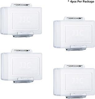 JJC Caja Resistente al Agua de la Batería para la Batería de la Cámara (Se adapta a Canon LP-E6 LP-E8 LP-E5 LP-E12 LP-E17 Nikon EN-EL15 EN-EL14 EN-EL3E Sony NP-FW50 NP-BX1 BG1)
