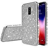 Robinsoni Samsung Galaxy A6 Plus 2018 Coque Glitter de, Coque Silicone Glitter Sparkle Paillette...