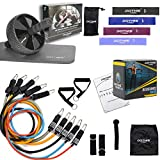 Home Gym - All in 1 Full Workout Equipment, Ab Roller, Resistance Bands, Home Exercise Strength Training for Abdominal Trainer, Indoor/Outdoor Loop Bands