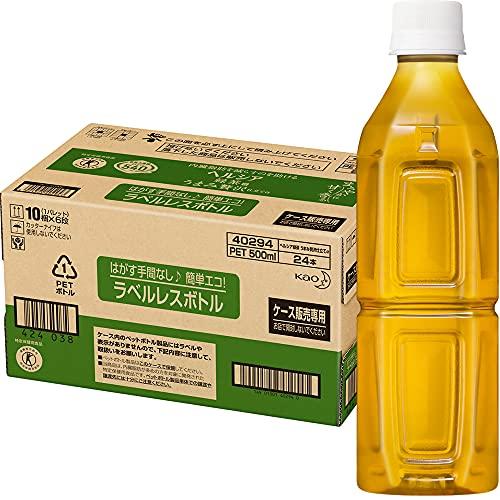 [トクホ] ヘルシア緑茶 うまみ贅沢仕立て ラベルレス 500ml×24本