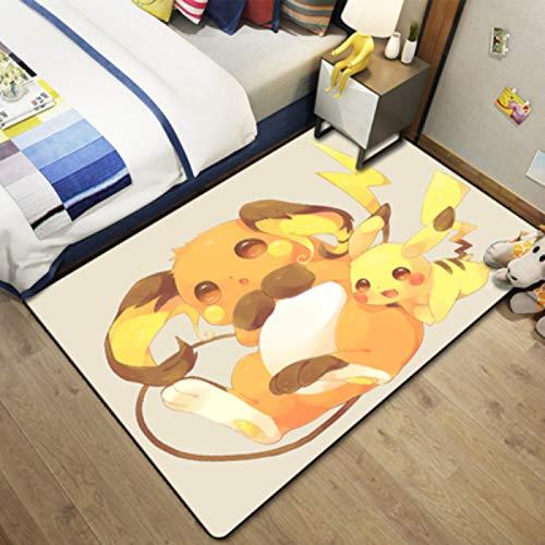 llc Tapis Dessin Animé Animation Pokémon Salon Entourant Tapis De Sol Garçon Chambre Baie Vitrée Tapis Nordique Court Velours Lavable Décoration