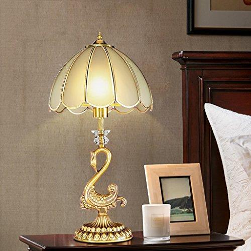 Ywyun lampe Swan, lampe de chevet cuivre LED moderne, une chambre d'étude européenne énergie vivante lampe décorative E27