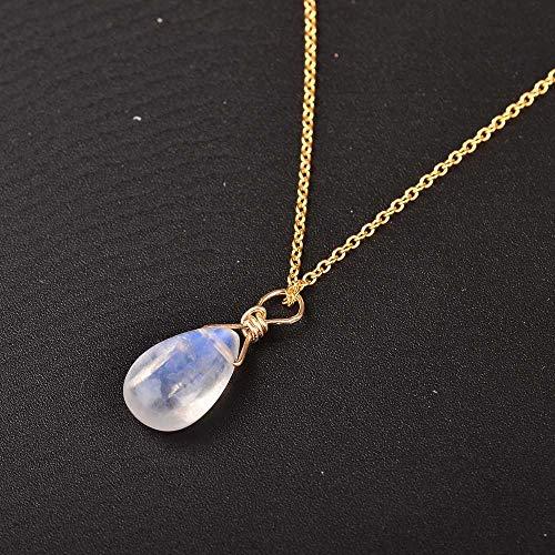 maofan Natuurlijke Maansteen Sieraden, Vrouwen Hanger Kettingen, Elegante Sieraden Geschenken Lichtblauw