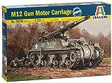 Italeri 7076 Modelo de plástico para Montar Carros Armados M12 Gun Motor Carriage Model Kit Escala 1:72