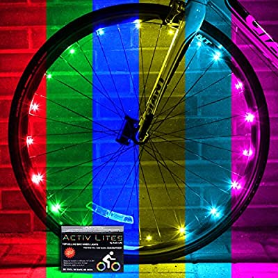 Activ Life Bicycle Lights (1 Wheel, Color-Changing) Basket Stuffing for Boys, Secret Easter Bunny for Teens, White Elephant Gifts 2020, Cycling Gift, Men Active Outdoor Festival Bike Night Rides by Activ Life