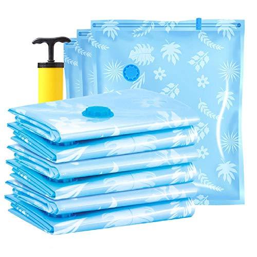 Bolsa de vacío para el hogar para ropa, bolsa de almacenamiento con válvula, borde transparente, organizador comprimido plegable, paquete de sello de ahorro