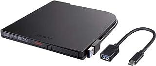 BUFFALO BDXL対応 USB3.0用ポータブルブルーレイドライブ スリムタイプ ブラック BRXL-PT6U3-BKD