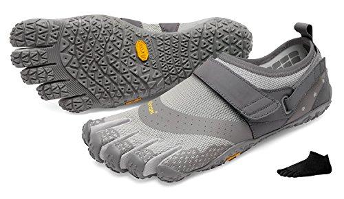 Vibram FiveFingers V-Aqua Men + Zehensocke 11005, Size:46;Color:Grey