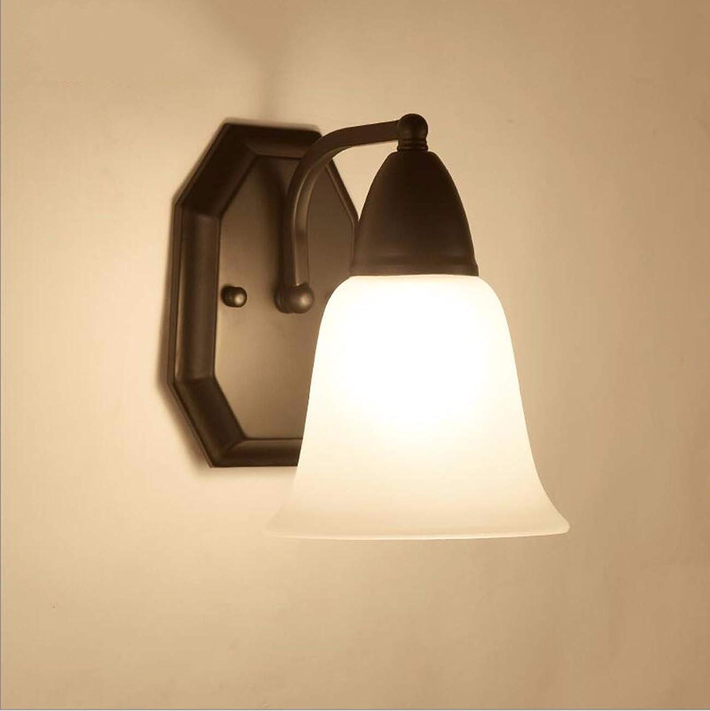 SiwuxieLamp Wandleuchte Amerikanischer Landgasthausflurgang-Nachttischlampenschlafzimmer-einfacher warmer Raum Halterung Licht
