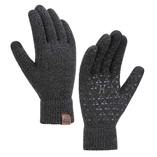 Bequemer Laden Unisex Damen Herren Touchscreen Handschuh Warme Rutschfest Handschuh H-Form Offsetdruck Wintersport Outdoor Handschuhe Fitness Garten Handschuhe mit Thermal Fleece Futter