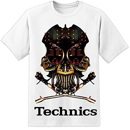 Technics 1200 Dj Skull Dj T Shirt Vestax Pioneer Serato Traktor Summer Printed Cotton Tee Shirts