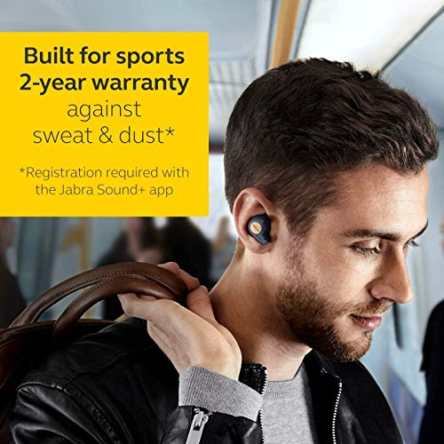Jabra Elite Active 65t Alexa Enabled True Wireless Sports Earbuds, 15 Hours Battery, Copper Blue, Designed in Denmark