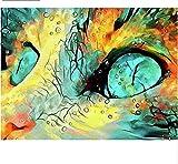 GHYU Rompecabezas de Madera de 2000 Piezas, Gato de Color, Rompecabezas de Madera para Adultos, niños, Juguetes de Rompecabezas, Juegos Familiares, Arte DIY, decoración del hogar
