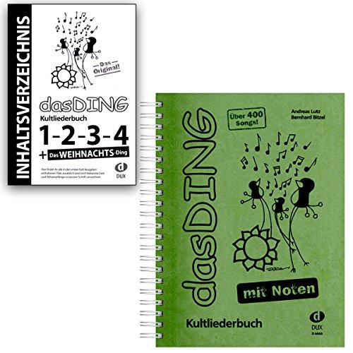 DAS DING Band 1 mit Noten und Original Inhaltsverzeichnis - Bände:1-2 - 3-4 - Das Weihnachts-Ding - Edition Dux D6666 9783868490145