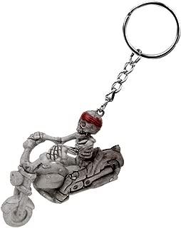 NATFUR Gothic Skull Skeleton Creative Purse Bag Keys Keyring Keychain Novelty Key Chain Elegant Pretty Key-Chain for Women Cute for Men Holder | Design - Motor Skull