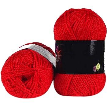 1 ovillo de algodón de bambú suave para tejer, 50 g, lana de punto para bebé – Geshiglobal #12: Amazon.es: Hogar