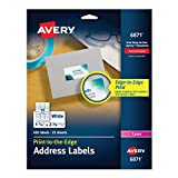 AVERY White Laser Labels for Color Printing, 1-1/4 x 2-3/8 Label, 450 per Pack (6871)