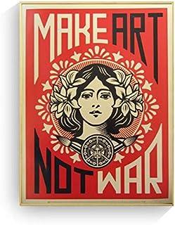 REDWPQ Make Art Not War Pop Art Vintage Affiche Impressions Peinture À l'huile sur Toile Mur Art Peintures Murales Photos ...