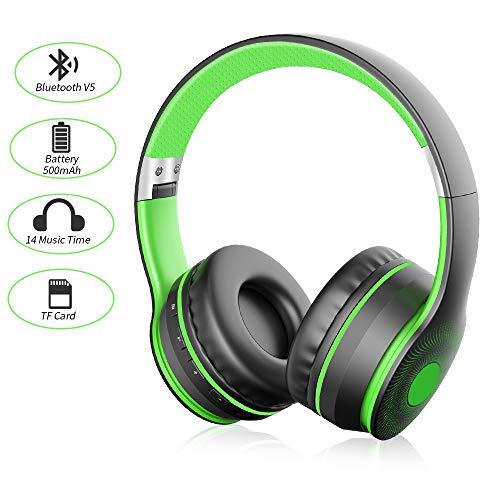 Bluetooth Kopfhörer, Ifecco Bluetooth Over Ear Headset Wirless Ohrpolster Kopfhörer, Stereo-Headset Kompatibel mit Allen Gängigen Smartphones/Tablets/Notebooks (Neu Silber)