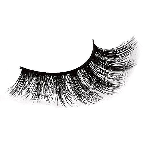Vovotrade Faux Cils 1 paire de cils de vison noirs 3D épais naturels faux faux cils cils contour des yeux longue plume cils de parti Naturels de cheveux Longs naturels épais faux cils