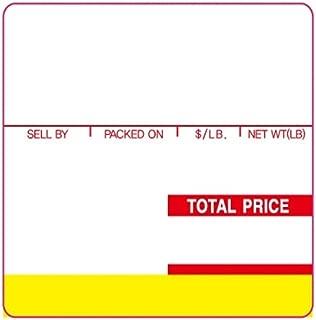 ISHIDA AC, Astra 59mm RED/YELLOW UPC 64mm x 59mm, 625 Per Roll, 12 Rolls/Box