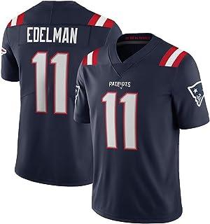 Julian Edelman # 11 American Football Trikot, Herren Rugby Trikot Jugend Erwachsene Kurzarm Atmungsaktiv High-End T-Shirt Trikot