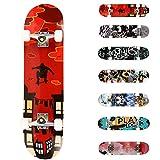 WeSkate Planche à roulettes pour Les débutants, 31 x 8'' Complète Skateboard 7 Plis Double...