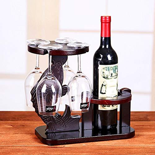 FGA Weinregal Delphin-Flaschenhalter Weinregal Retro Ornamente Kreative Cello Laute Orchidee Fisch Pilz Wein Cup Holder Home Wohnzimmer Weinregal (Ohne Tassen Und Flaschen)
