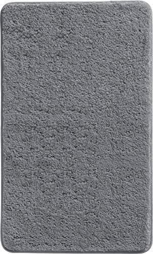 Erwin Müller Badematte, Badteppich, Badvorleger Uni rutschhemmend anthrazit Größe 80x150 cm - ultraweich, extrem saugfähig, flusenarm (weitere Farben, Größen)