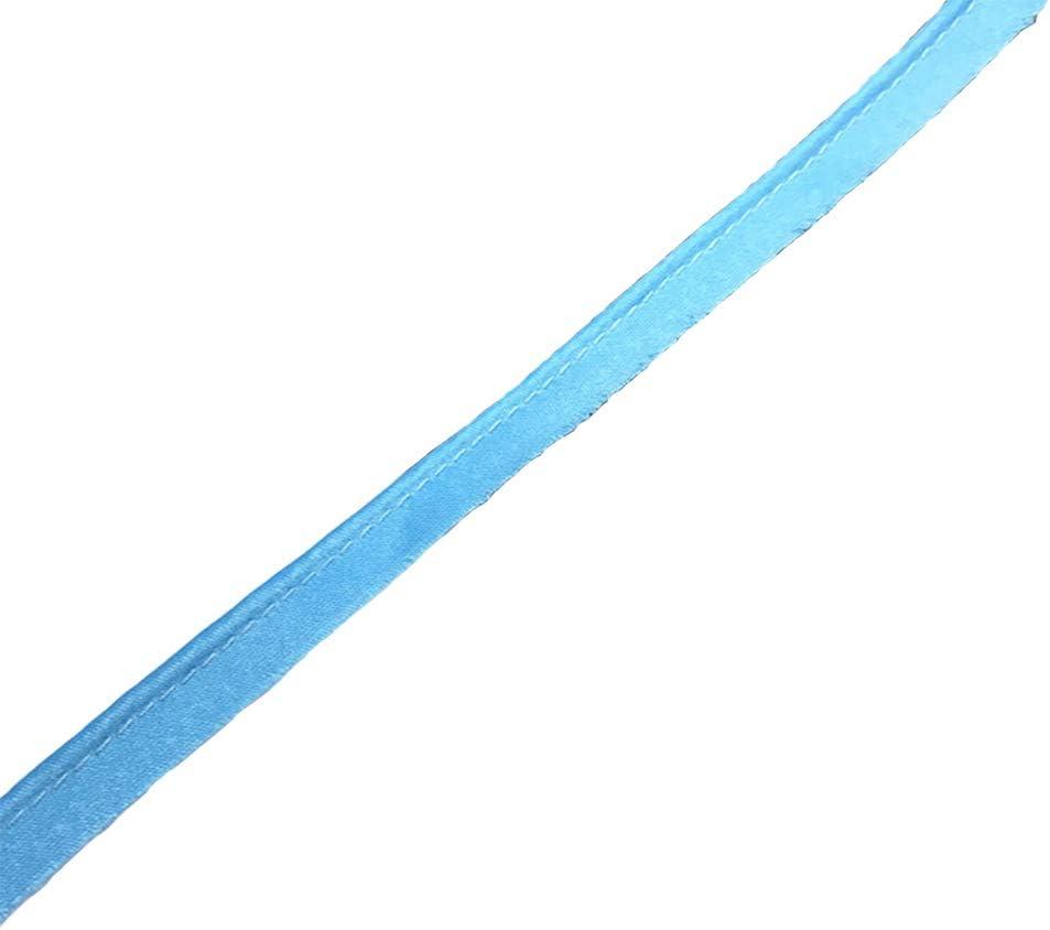 color plateado Tama/ño libre azul lake cortada a mano Cinta de sat/én para manualidades Piping Bias