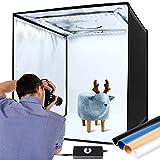 Light Box 60x60cm, 0% -100% Dimmerabile 120 LED, Tenda Studio Fotografico 6000K, Box Fotografico...