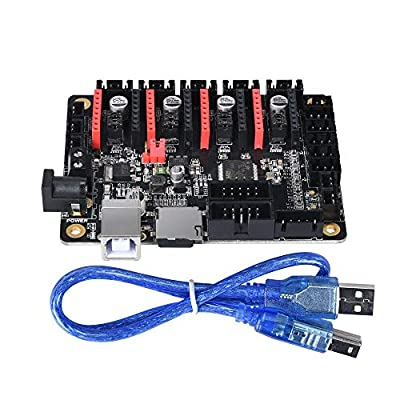 BIQU DIRECT 3D Printer Part SKR Mini V1.1 32bit Control Board Marlin 2.0 Open Source Compatible with Ramps 1.5/1.6 Support A4988/8825/TMC2208/TMC2130 Drivers (DC Connector)