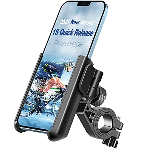 Tiakia Handyhalterung Fahrrad, Fahrrad Handyhalterung Universal für 3,5-7 Zoll Smartphone iPhone Huawei Samsung GPS usw, Handyhalter Motorrad 360°Drehbarem, Schnelle Demontage und Blitzinstallation